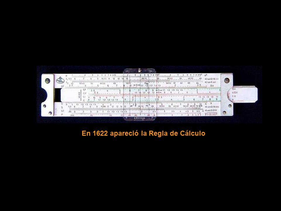 En 1622 apareció la Regla de Cálculo