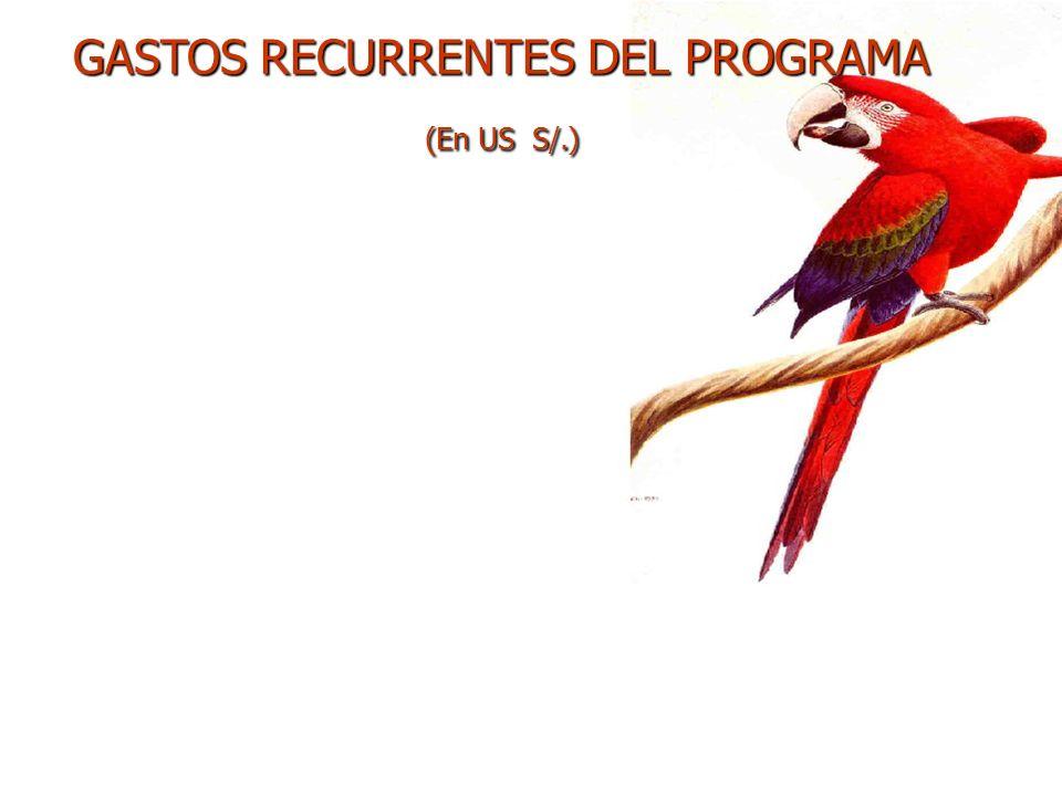 GASTOS RECURRENTES DEL PROGRAMA (En US S/.)