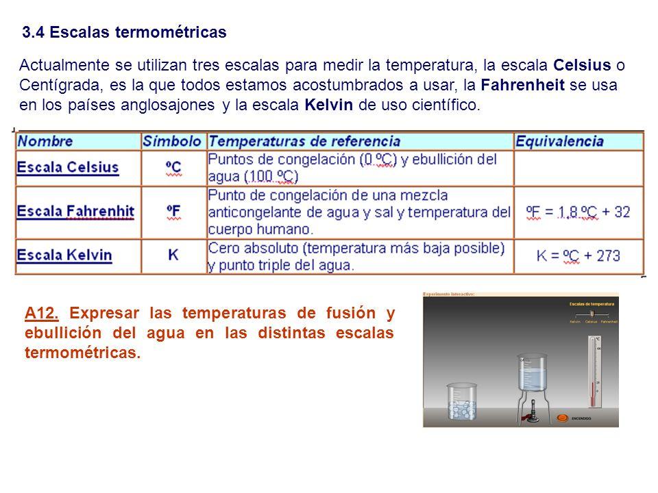 Actualmente se utilizan tres escalas para medir la temperatura, la escala Celsius o Centígrada, es la que todos estamos acostumbrados a usar, la Fahre