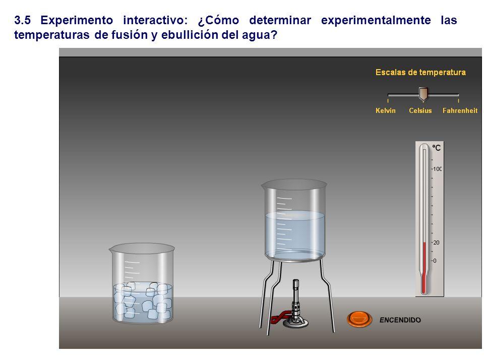 3.5 Experimento interactivo: ¿Cómo determinar experimentalmente las temperaturas de fusión y ebullición del agua?