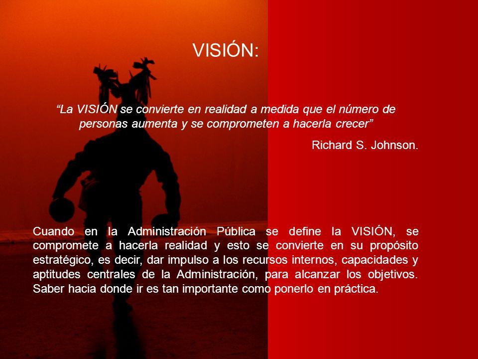 VISIÓN: La VISIÓN se convierte en realidad a medida que el número de personas aumenta y se comprometen a hacerla crecer Richard S. Johnson. Cuando en