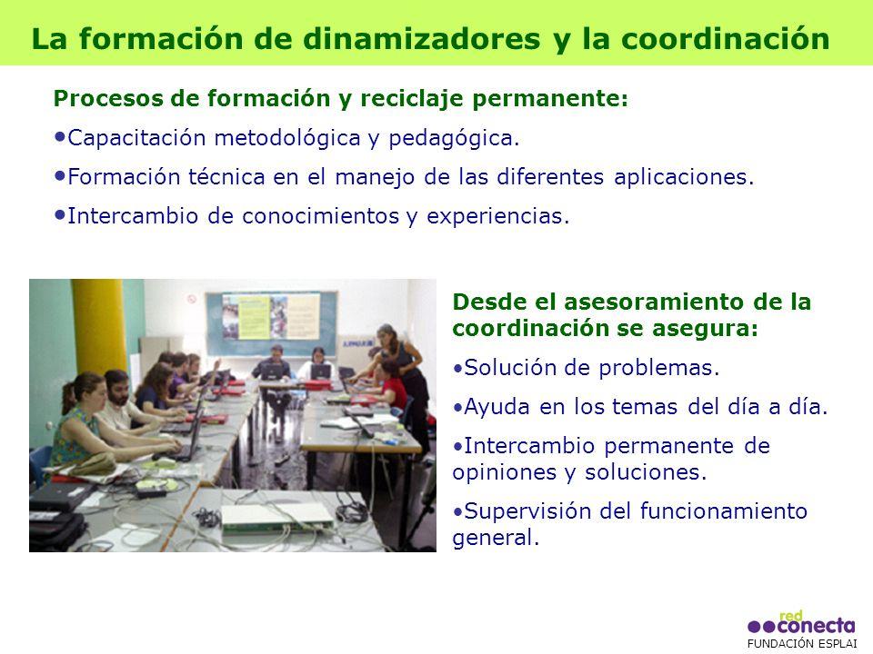 FUNDACIÓN ESPLAI Desde el asesoramiento de la coordinación se asegura: Solución de problemas.