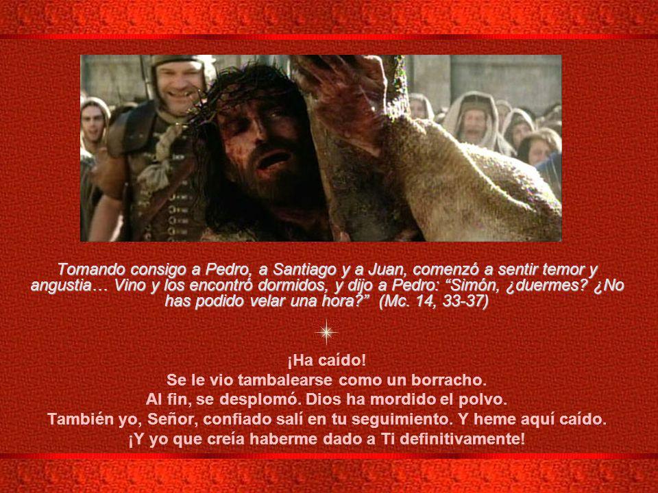 III ESTACIÓN: JESÚS CAE POR PRIMERA VEZ Jesús le dijo (a Pedro y a su hermano Andrés): Venid en pos de Mí, y os haré pescadores de hombres.