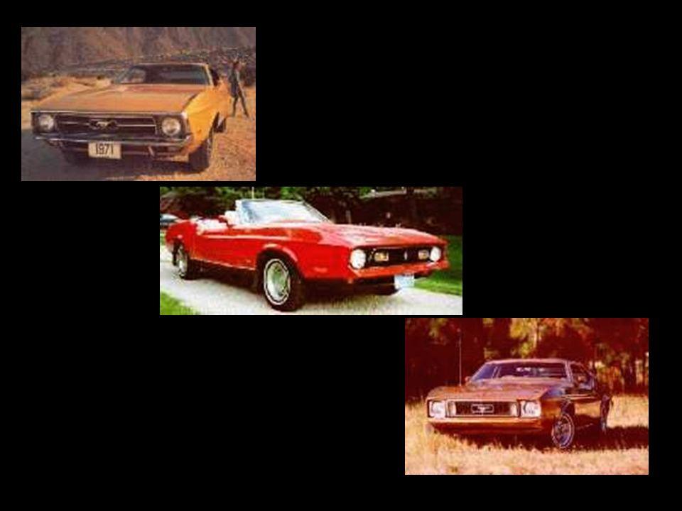 Del 71 al 73 En el año de 1971 se realizó la última gran modificación de la primera generación del Ford Mustang. Creció mas de 5 centimetros de longit