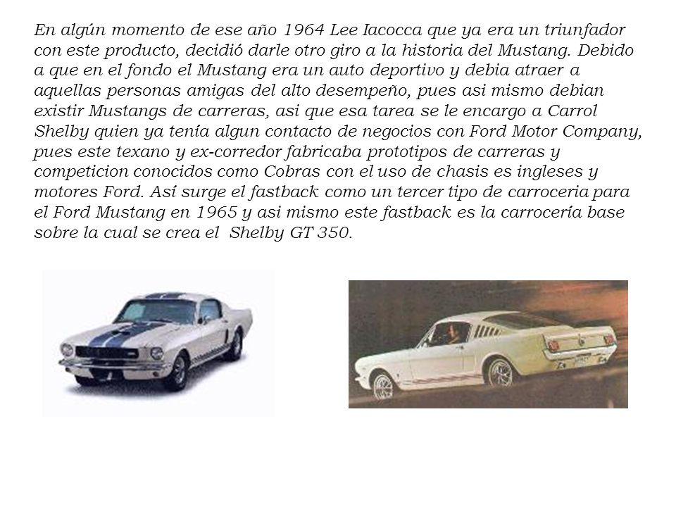 El 9 de Marzo de 1964 el primer Mustang salió de la linea de ensamblaje dispuesto a sorprender al mundo, el cual ya lo estaba esperando debido a un ef