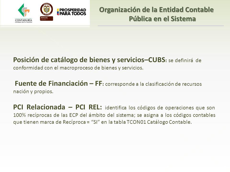 Posición de catálogo de bienes y servicios–CUBS : se definirá de conformidad con el macroproceso de bienes y servicios. Fuente de Financiación – FF :