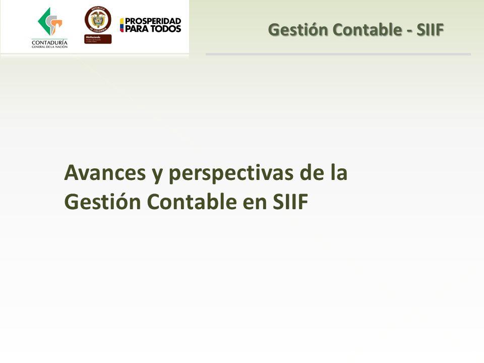 Avances y perspectivas de la Gestión Contable en SIIF Gestión Contable - SIIF
