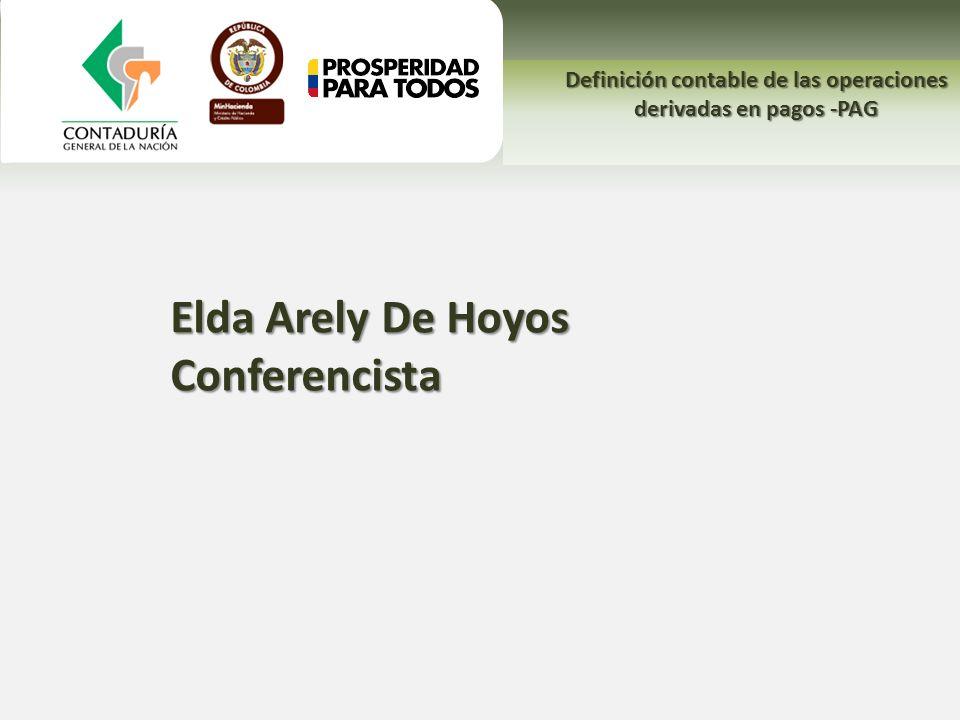 Elda Arely De Hoyos Conferencista Definición contable de las operaciones derivadas en pagos -PAG