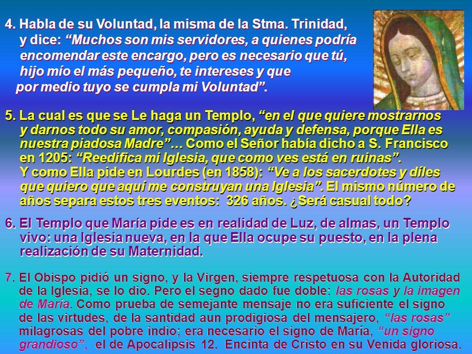 2. La Virgen de Guadalupe es la dulcísima Mensajera de la nueva espiritualidad de la Misericordia y del Amor. Los signos del tiempo nuevo son: el diál