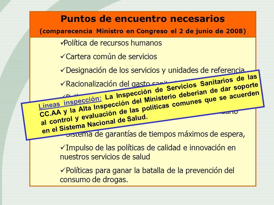 Política de recursos humanos Cartera común de servicios Designación de los servicios y unidades de referencia Racionalización del gasto sanitario Polí