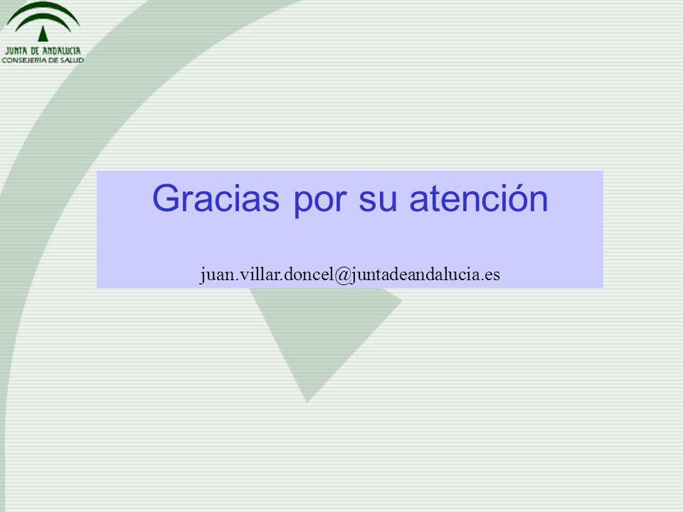 Gracias por su atención juan.villar.doncel@juntadeandalucia.es