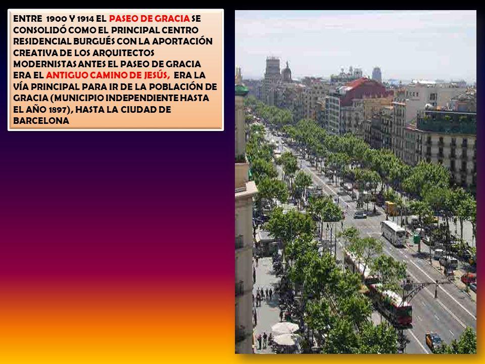 EL PASEO DE GRACIA /PASSEIG DE GRÀCIA ES LA AVENIDA PRINCIPAL DE BARCELONA Y UNA DE LAS AVENIDAS MÁS FAMOSAS DE ESPAÑA, DEBIDO A SU IMPORTANCIA TURÍST