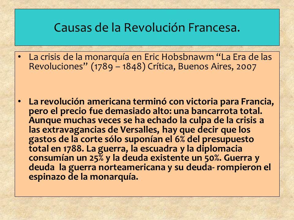 Causas de la Revolución Francesa.