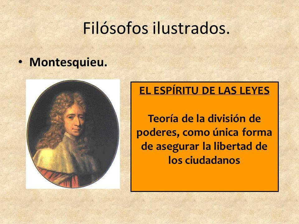 Filósofos ilustrados.Montesquieu.