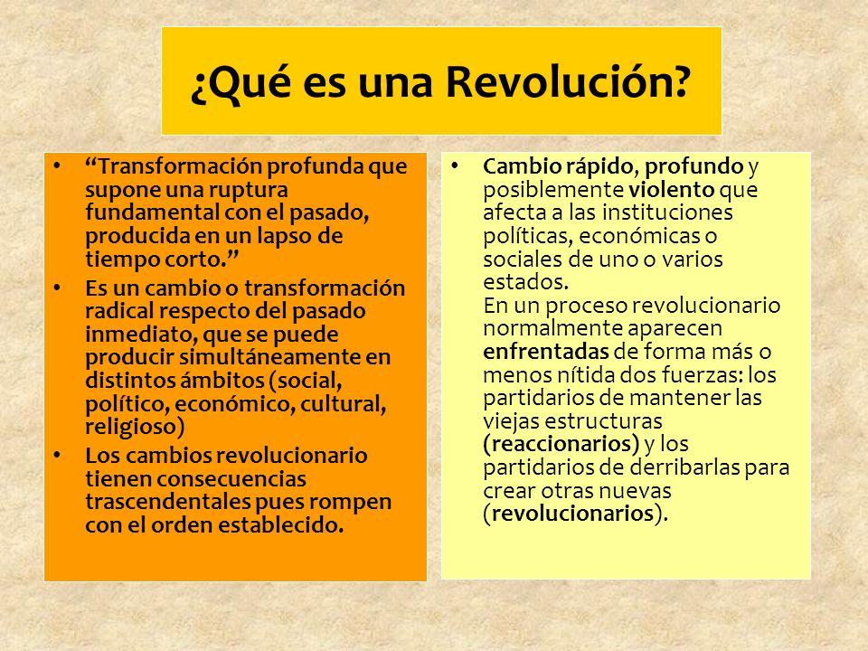 ¿Qué es una Revolución.