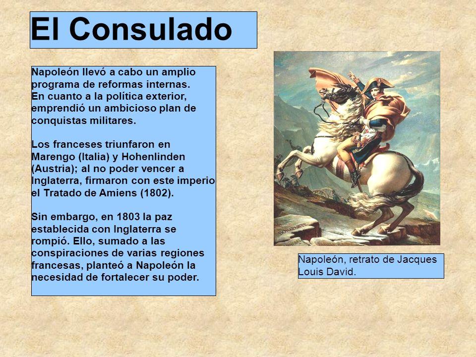 El Consulado Napoleón llevó a cabo un amplio programa de reformas internas.