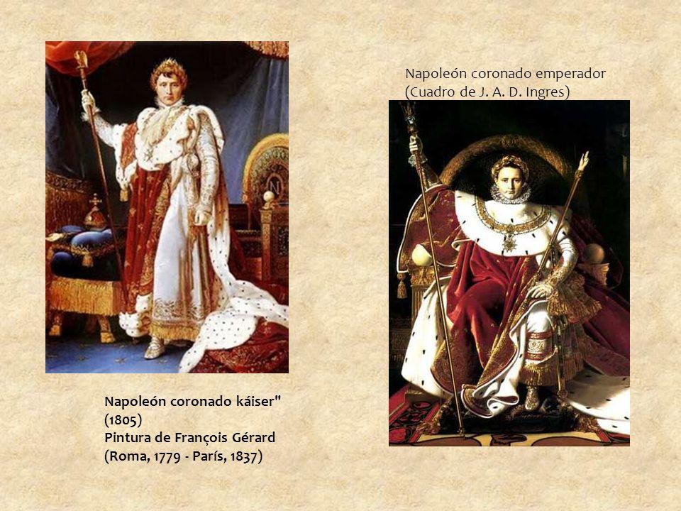 Napoleón coronado emperador (Cuadro de J.A. D.