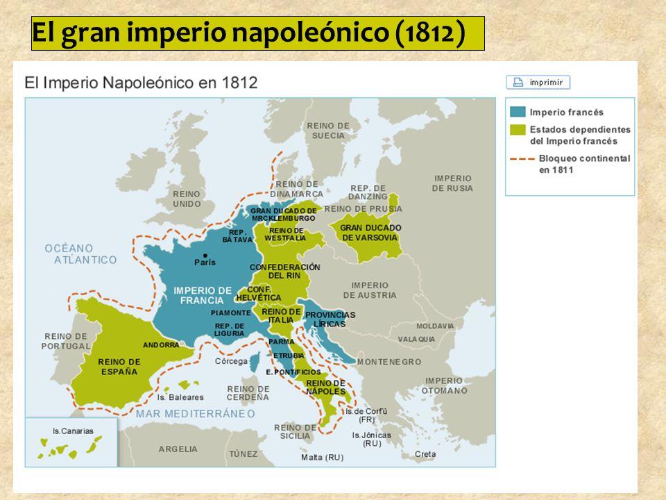 El gran imperio napoleónico (1812)