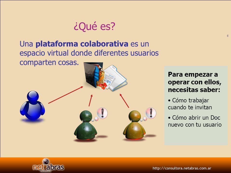 7 Google Docs Alguien te propone trabajar colaborativamente usando la plataforma Google Docs.