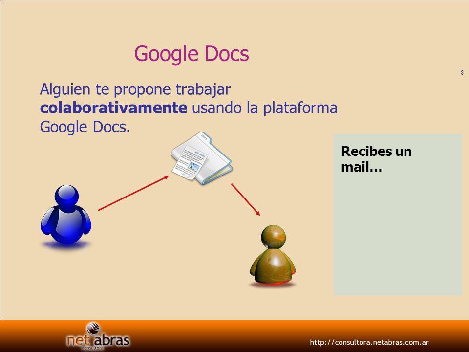 9 Google Docs Alguien te propone trabajar colaborativamente usando la plataforma Google Docs.