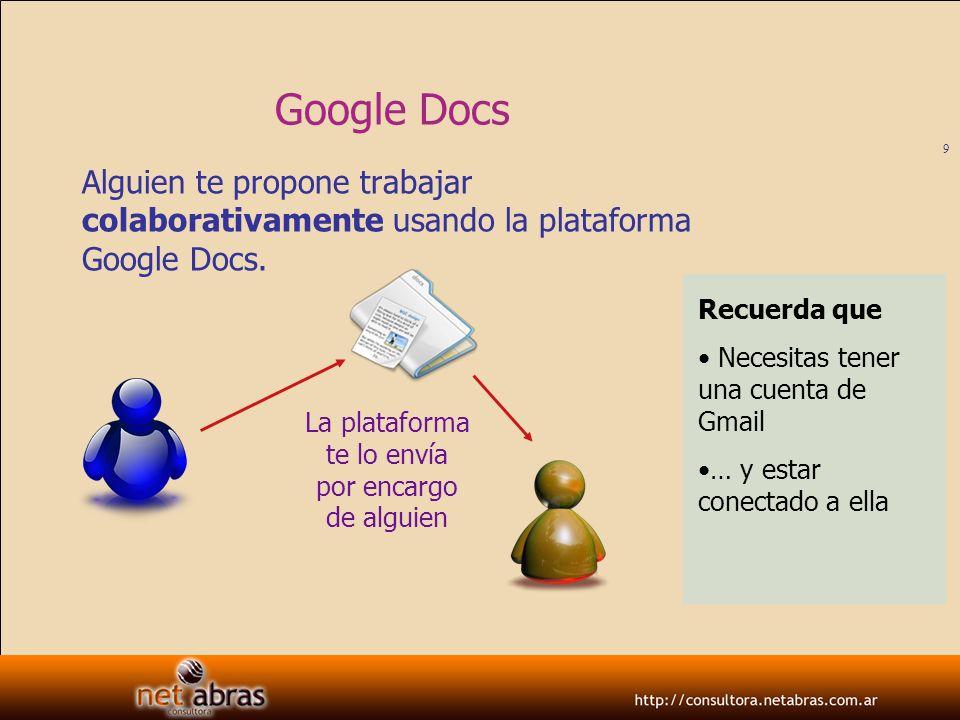 10 Google Docs Así se ve (en tu webmail) el correo donde te avisan que alguien ha compartido un documento contigo.