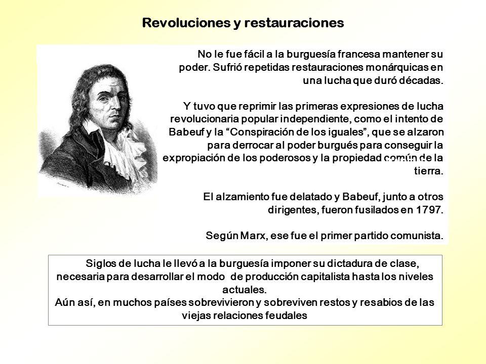 Siglos de lucha le llevó a la burguesía imponer su dictadura de clase, necesaria para desarrollar el modo de producción capitalista hasta los niveles actuales.