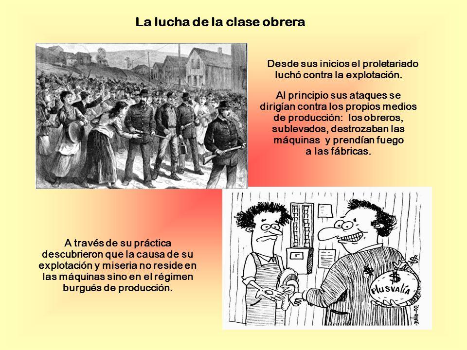La lucha de la clase obrera Desde sus inicios el proletariado luchó contra la explotación.