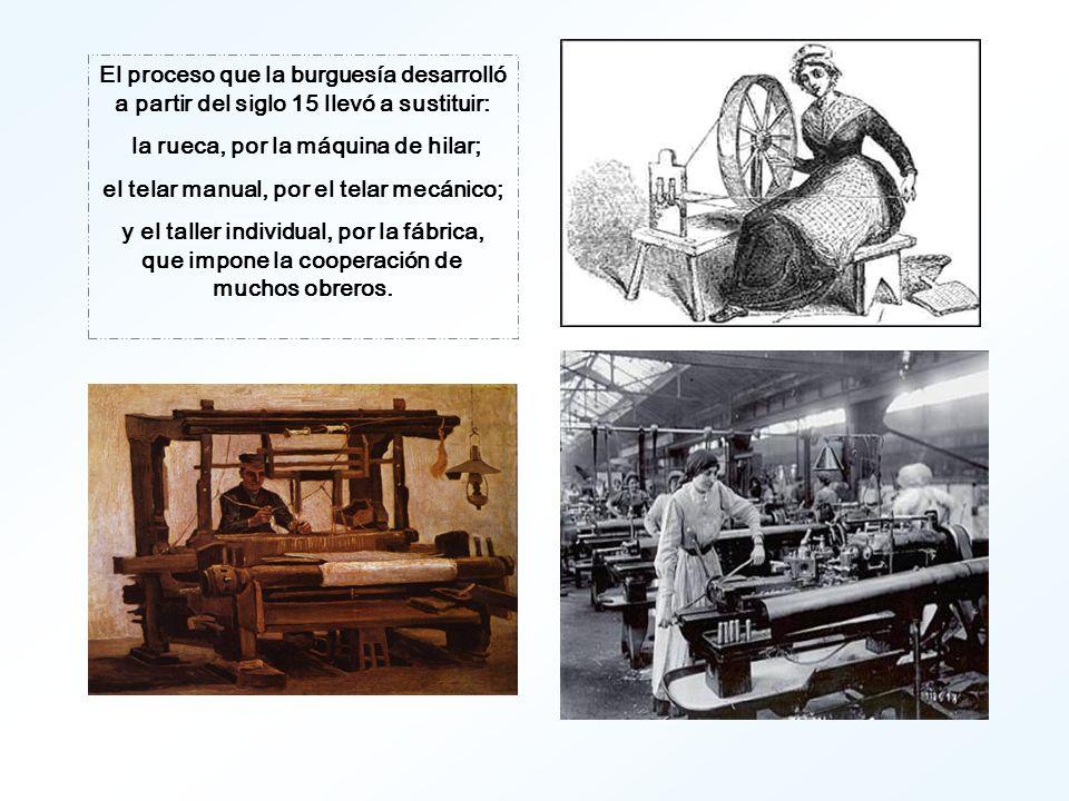 La producción individual fue sucumbiendo poco a poco en todos los campos y la producción social revolucionó todo el antiguo modo de producción.