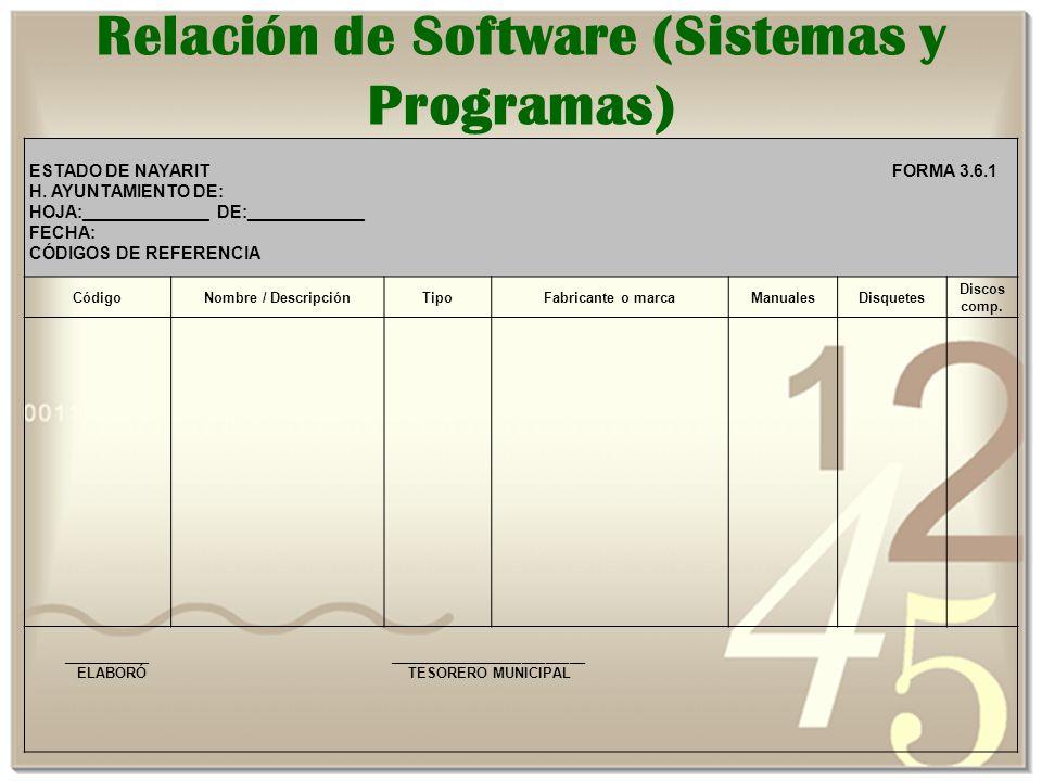 ESTADO DE NAYARIT FORMA 3.6.1 H.