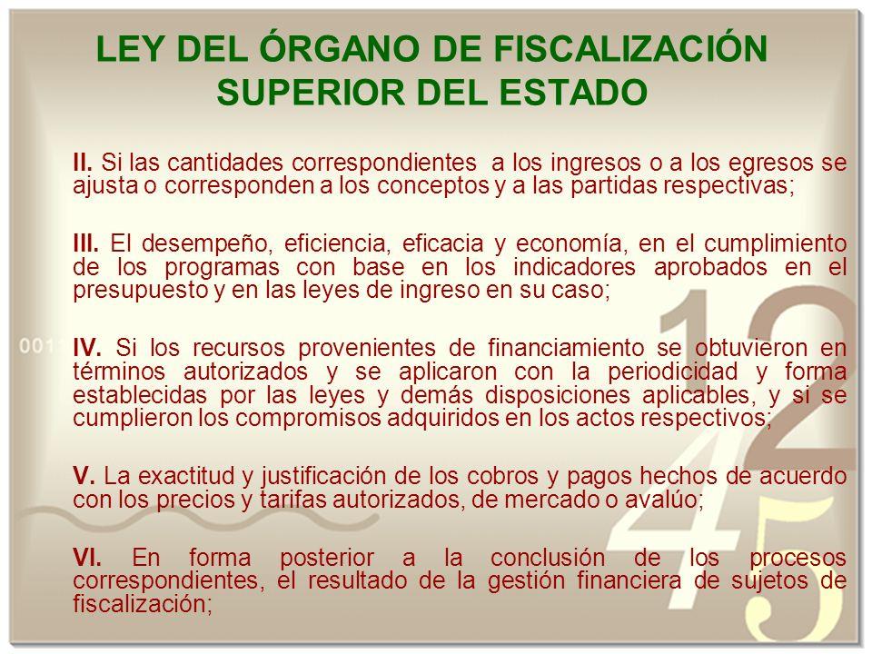LEY DEL ÓRGANO DE FISCALIZACIÓN SUPERIOR DEL ESTADO II.