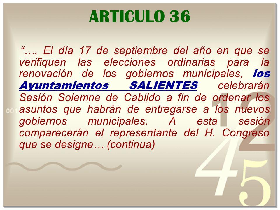 ARTICULO 36 ….