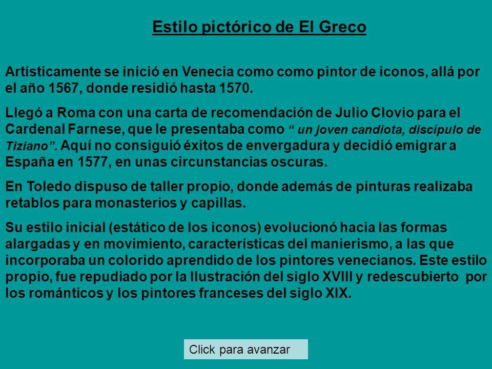 Click para avanzar El Greco representó a insignes varones de su tiempo, lo que causó la admiración de toledanos y visitantes. Personajes Andrés Núñez,