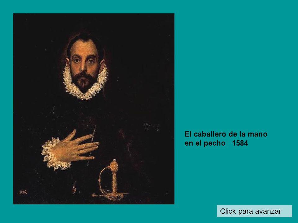 Click para avanzar Martirio de San Mauricio y la legión tebana 1580- 82 Fue un encargo de Felipe II, pero al rey no le gustó el estilo de esta obra y