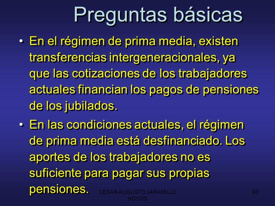 CESAR AUGUSTO JARAMILLO HOYOS 89 Por qué es importante estudiar el tema pensional A pesar de la baja cobertura de la seguridad social (aprox.