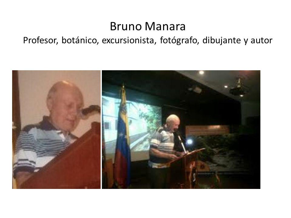 Breve reseña biográfica del Autor Bruno Manara (*1939) es venezolano, graduado como Profesor de Castellano, Literatura y Latín el Instituto Pedagógico de Caracas (1967), y Licenciado en Letras en la UCV (1973).
