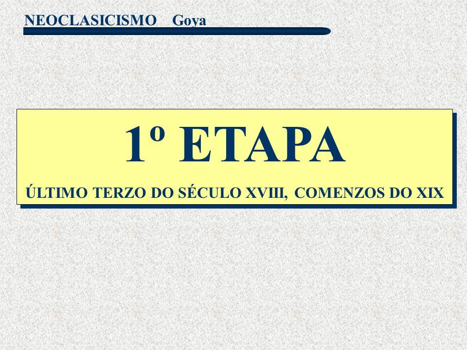NEOCLASICISMO Goya A.PERIODO DE XUVENTUDE E MADUREZ 1771-1800 A.