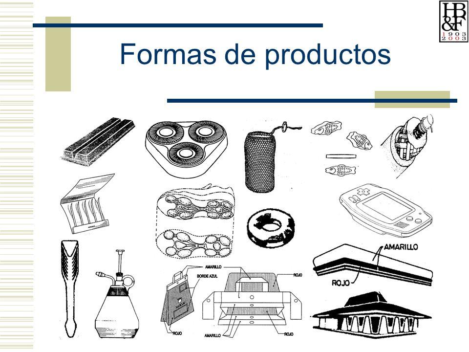 Formas de productos