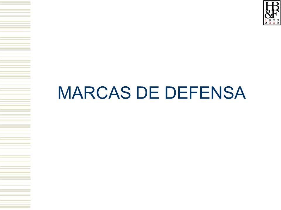 MARCAS DE DEFENSA