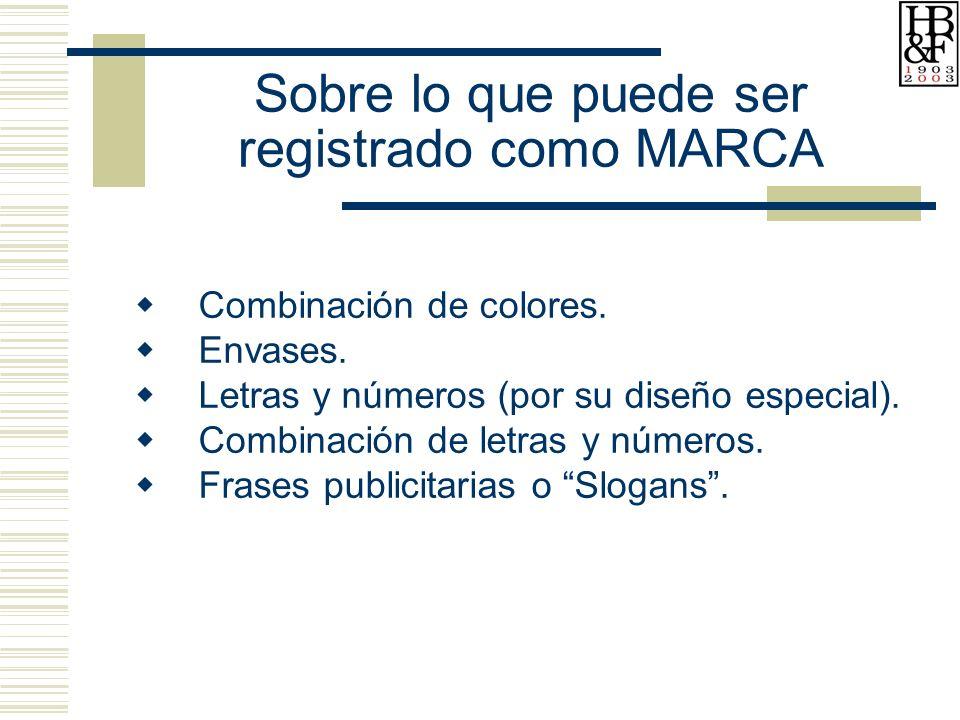 Sobre lo que puede ser registrado como MARCA Combinación de colores.