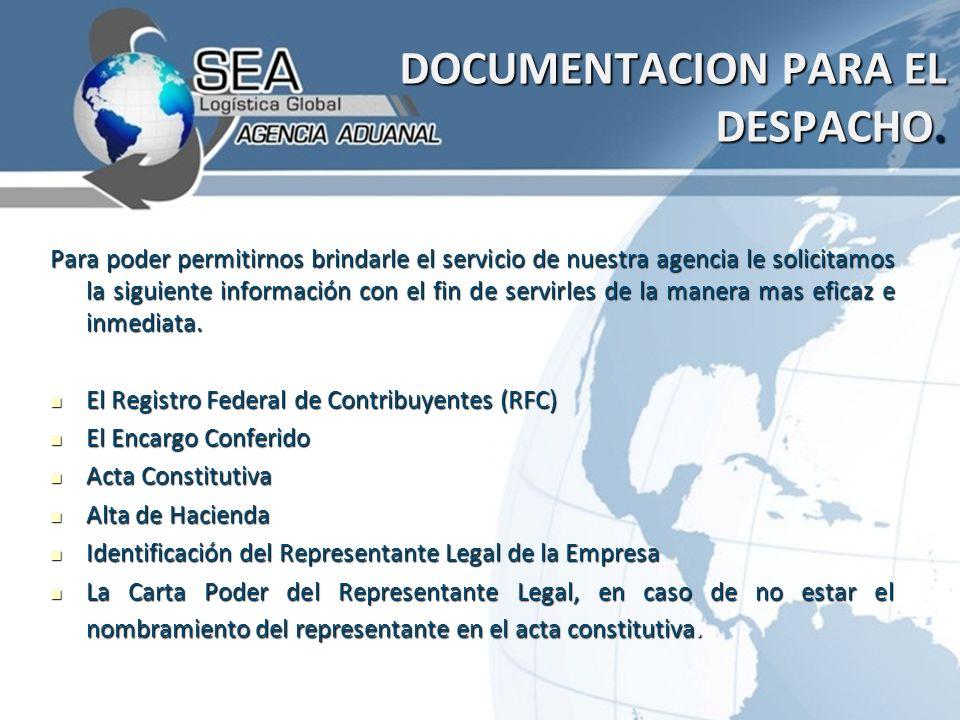 DOCUMENTACION PARA EL DESPACHO.DOCUMENTACION PARA EL DESPACHO.