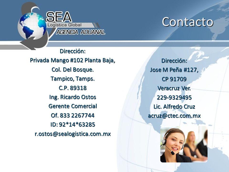 Contacto Contacto Dirección: Privada Mango #102 Planta Baja, Col.