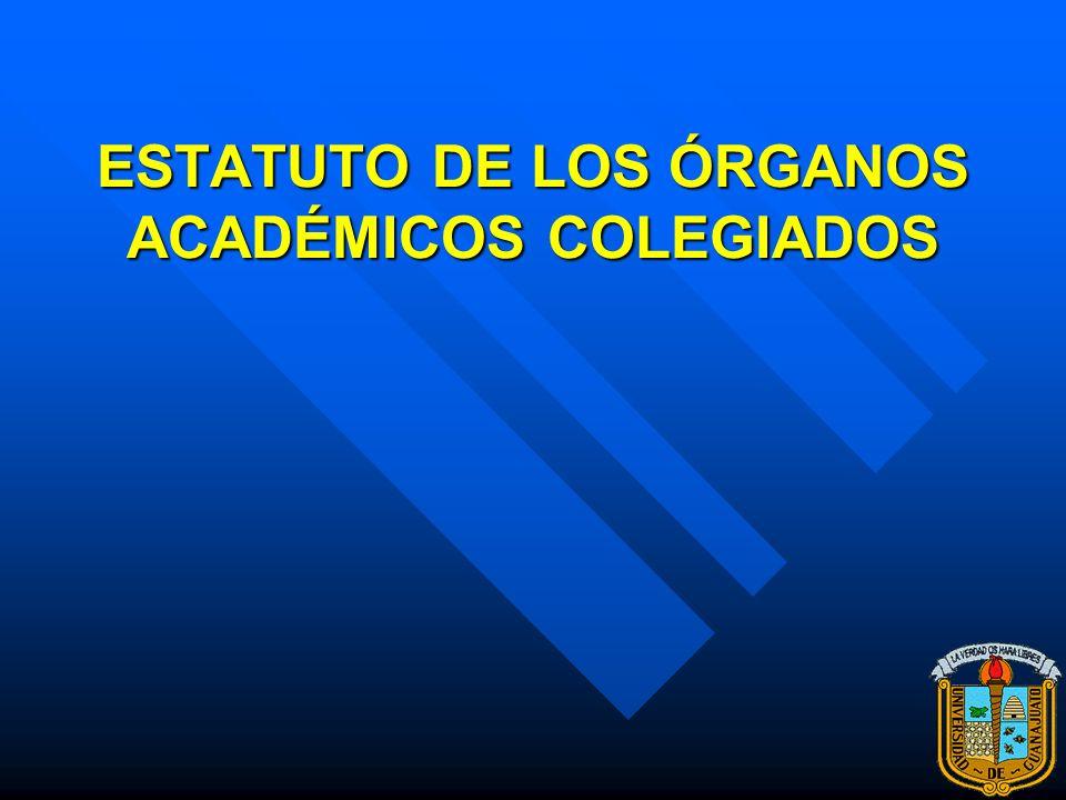 La Academia y la Ley Orgánica ARTÍCULO OCTAVO. Las Academias de Escuelas y Facultades, así como los Consejos Técnicos de Investigación de los Centros