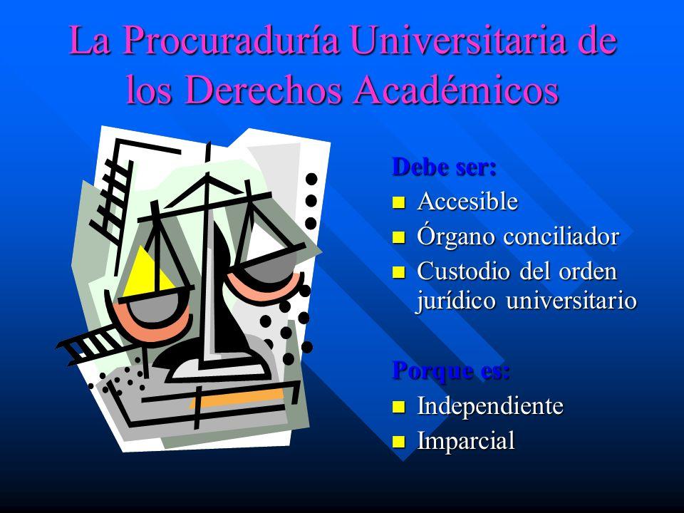 Dos funciones Tutela y Procuración Artículo 2 Reglamento de la Procuraduría Universitaria de los Derechos Académicos de los derechos académicos que co