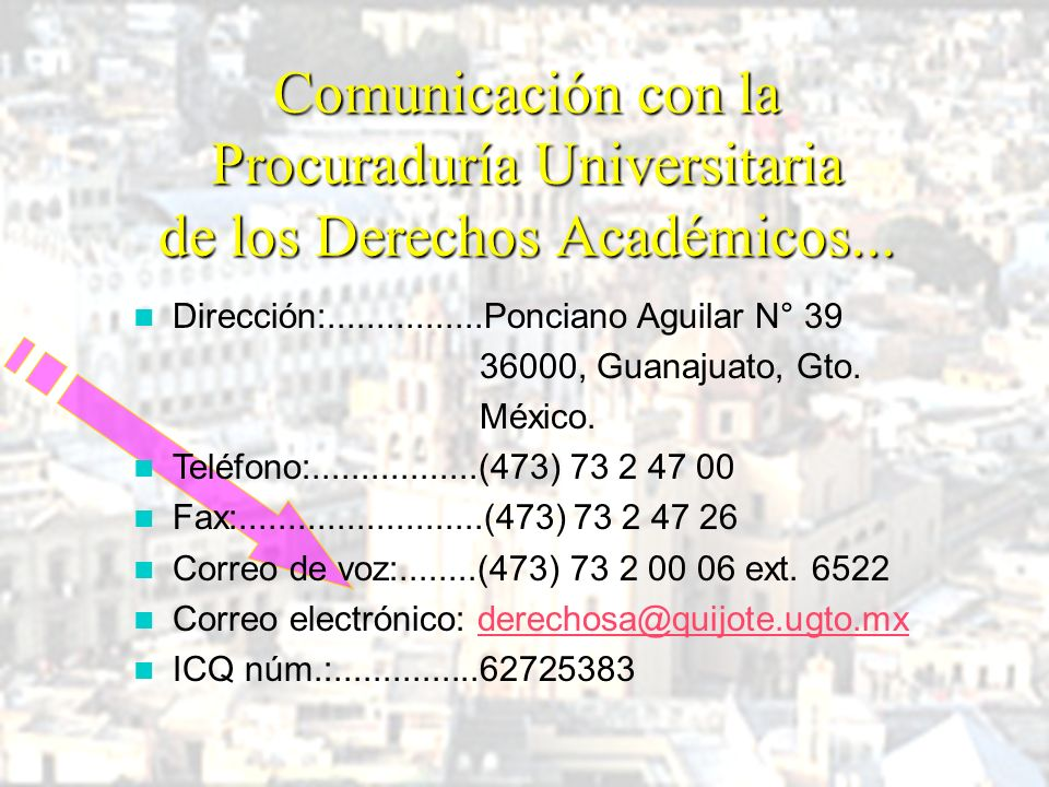 Procuraduría Universitaria de los Derechos Académicos ORGANIGRAMA
