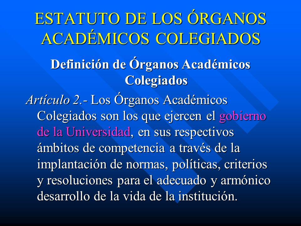 ESTATUTO DEL PERSONAL ACADÉMICO Artículo 16.