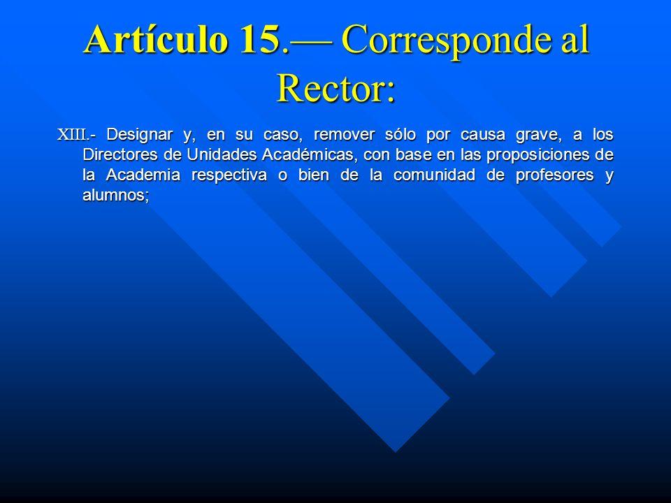ESTATUTO DE LOS ÓRGANOS ACADÉMICOS COLEGIADOS Artículo 20.