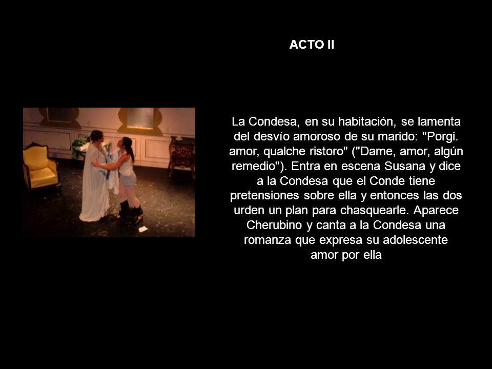 ACTO II La Condesa, en su habitación, se lamenta del desvío amoroso de su marido: Porgi.