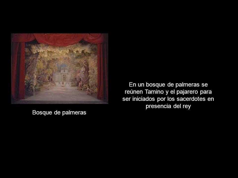 Tamino y Papageo siguen en el templo callados.