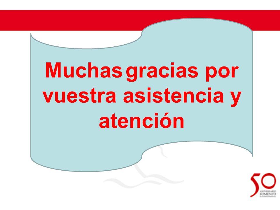 Muchas gracias por vuestra asistencia y atención