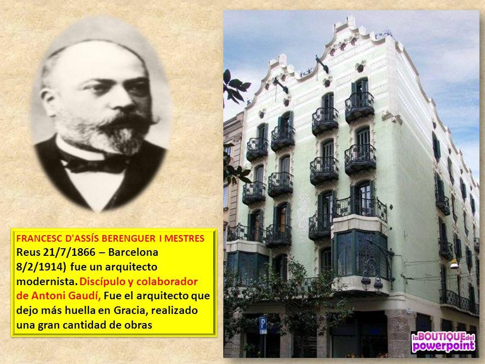 GRAN DE GRÁCIA 18 – 22 Arquitecto Agustí Font i Carrer – Estilo Historicista El Edificio es ahora un edificio de la Caixa construido en 1905 con eleme